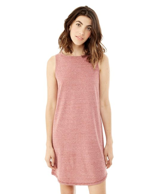 Alternative Apparel - Red Nautical Eco-nep Jersey Tank Dress - Lyst