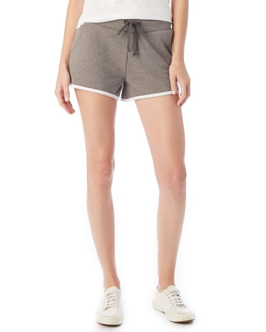 Alternative Apparel Green Track Vintage French Terry Shorts