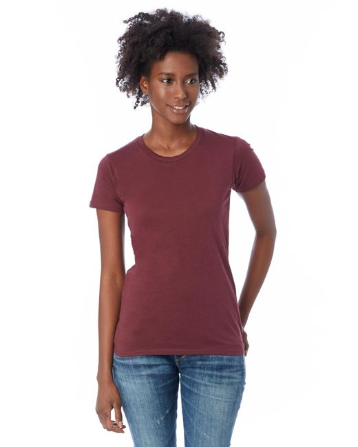 Alternative Apparel - Purple Basic Womens Crew T-shirt - Lyst