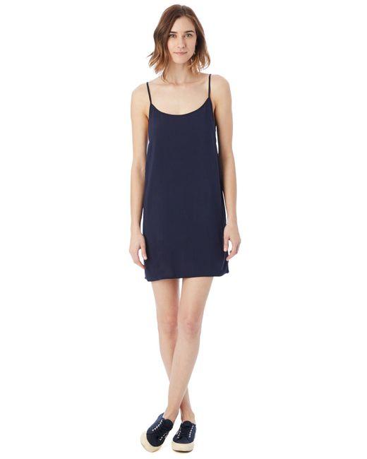 Alternative Apparel | Blue Rayon Challis Slip Dress | Lyst