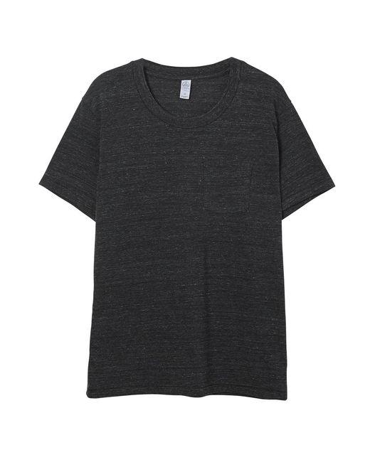 Alternative Apparel Black Eco-jersey Pocket Crew T-shirt for men