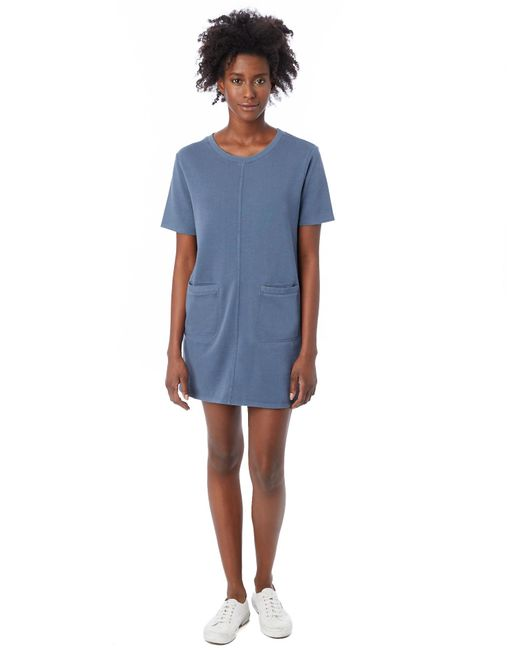 Alternative Apparel | Blue Weathered Wash Lightweight French Terry Dress | Lyst