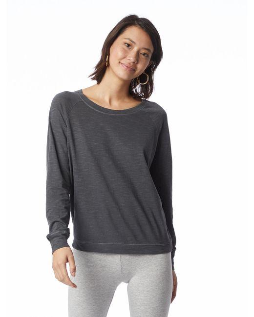 Alternative Apparel - Multicolor Slouchy Washed Slub Pullover Sweatshirt - Lyst