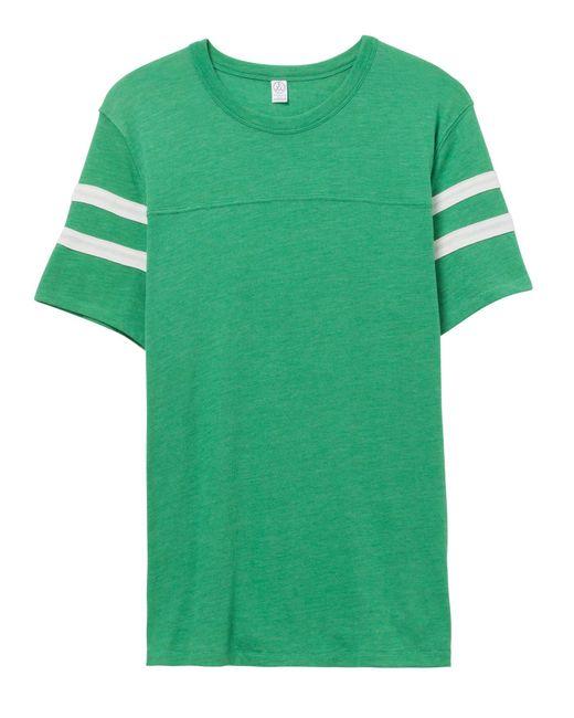 Alternative Apparel - Green Eco-jersey Football T-shirt for Men - Lyst