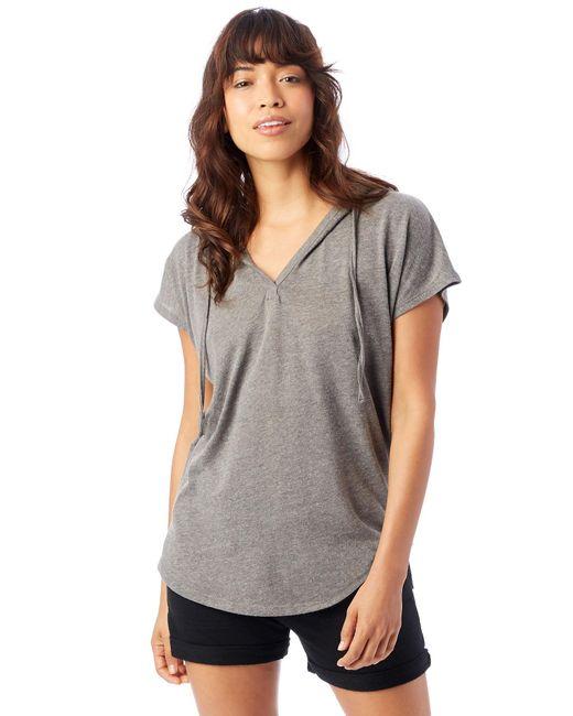 Alternative Apparel - Gray Vintage Jersey Poncho - Lyst