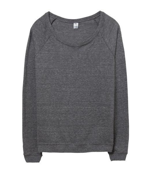 Alternative Apparel Gray Locker Room Eco-jersey Pullover