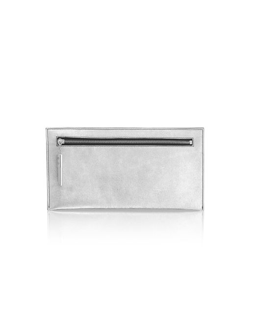 Amanda Wakeley | Metallic Super Lux Silver Poppy Bag | Lyst