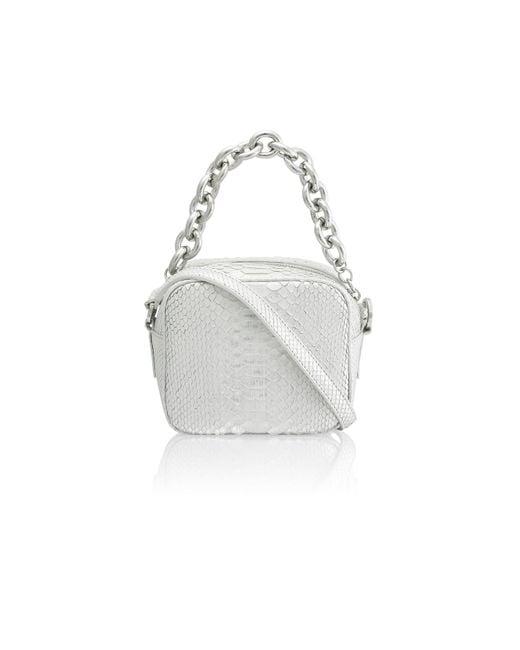 Amanda Wakeley | Metallic Jackson Silver Python Pochette Bag | Lyst