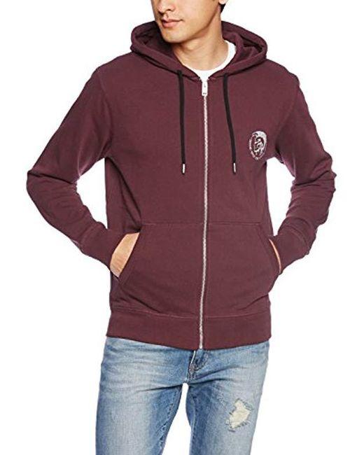 DIESEL - Purple Umlt Brandon Maroon Sweatshirt for Men - Lyst