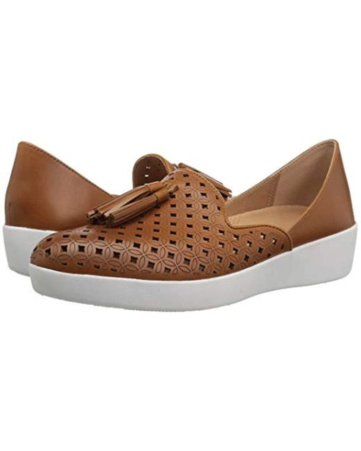 28a3369a4c73 ... Lyst Fitflop - Brown Tassel Superskate D orsay Loafers-latticed Leather  ...