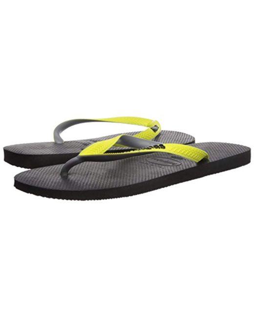 f6747d34db2 ... Havaianas - Black Top Mix Flip-flop for Men - Lyst ...