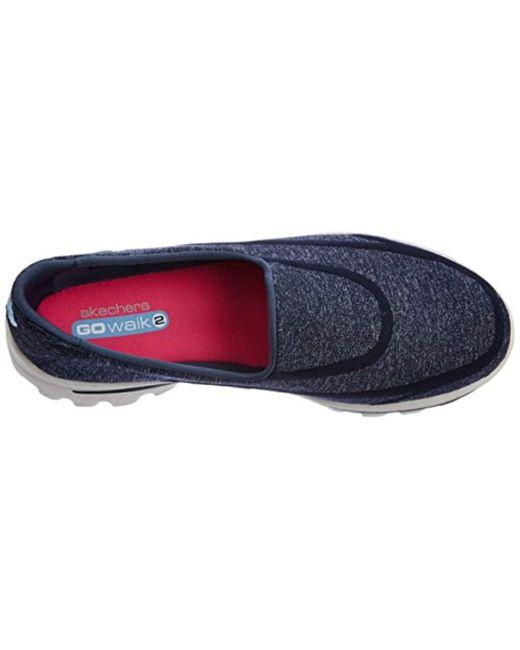 ... Skechers - Blue Performance Go Walk 2 Super Sock 2 Slip-on Walking Shoe -