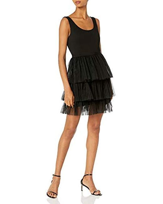 SJP by Sarah Jessica Parker Black Title Dress