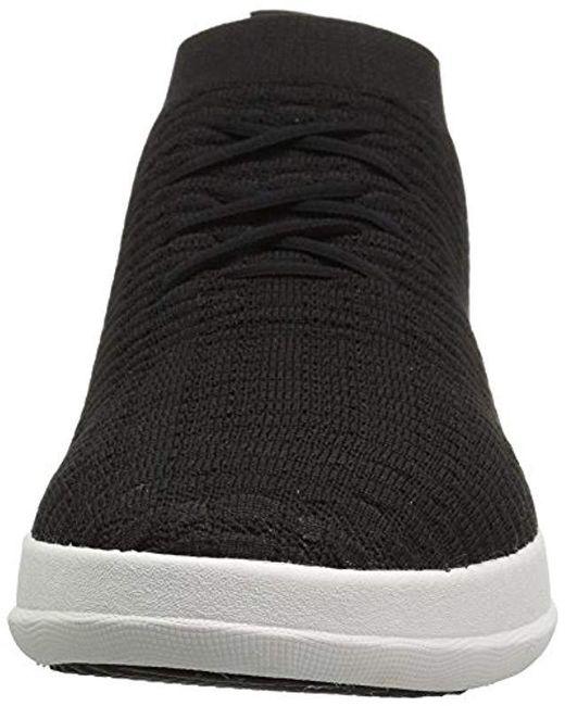 43839b433532 ... Fitflop - Black Uberknit Slip-on High Top Sneaker In Waffle Knit for  Men ...