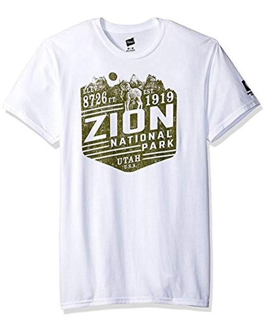 Hanes National Parks Graphic T-shirt Collection, White/zion, 3x Large for men