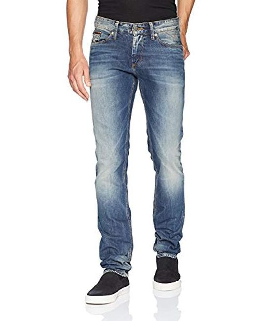 6b4ab2289 Tommy Hilfiger - Blue Tommy Jeans Original Scanton Slim Fit Jeans for Men -  Lyst ...