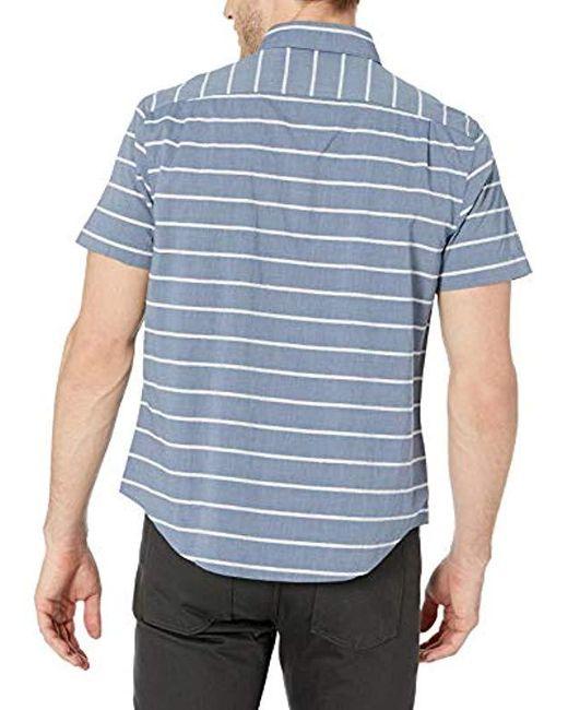 Original Penguin Mens Short Sleeve Satin Stripe