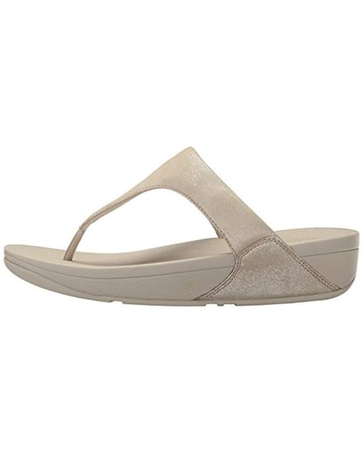 e18cd644c9a55 ... Fitflop - Multicolor Shimmy Suede Toe Post (pale Gold) Women s Shoes ...