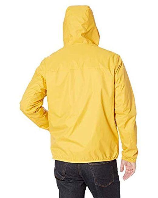 3c2374804 Men's Yellow Retro Lightweight Taslan Popover Jacket