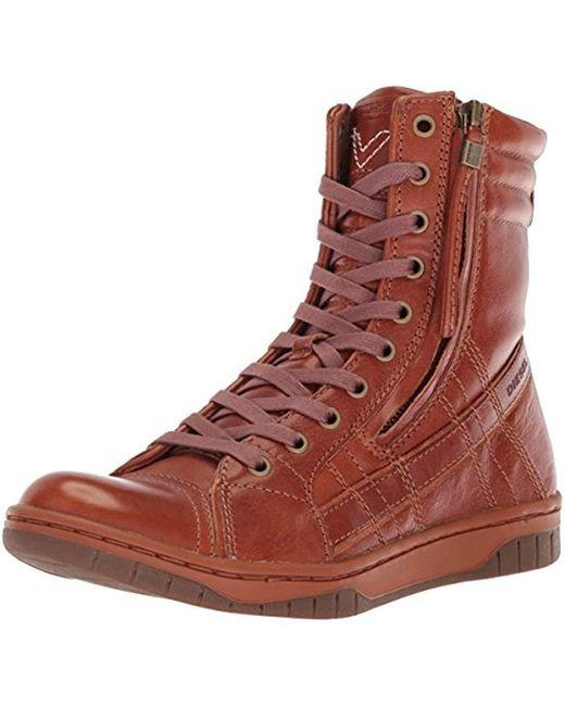 DIESEL Brown Tatradium D-valadium Fashion Boot, Cognac, 9 M Us for men
