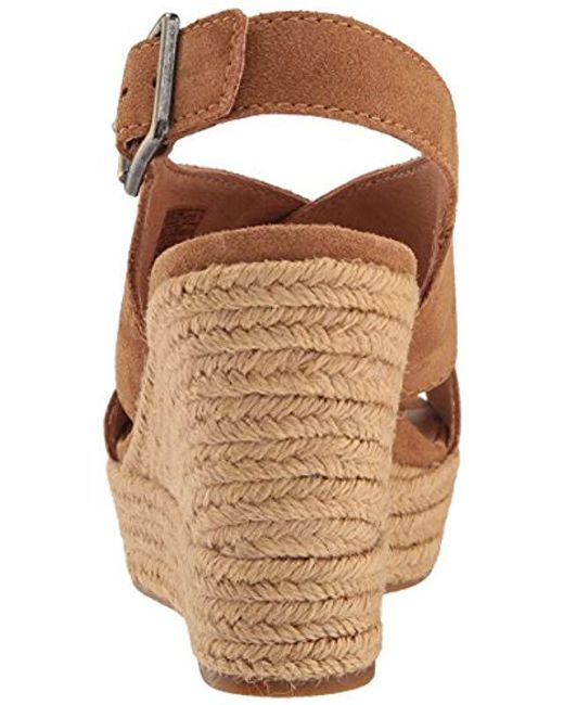 07cb7b7fd03 Women's Brown Harlow Espadrille Wedge Sandal