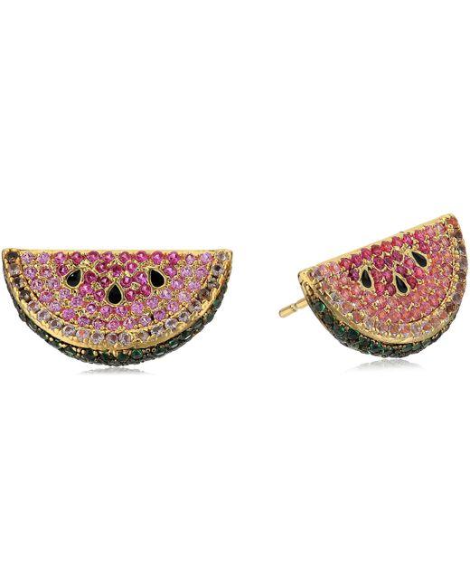 Noir Jewelry Metallic Watermelon Stud Earrings