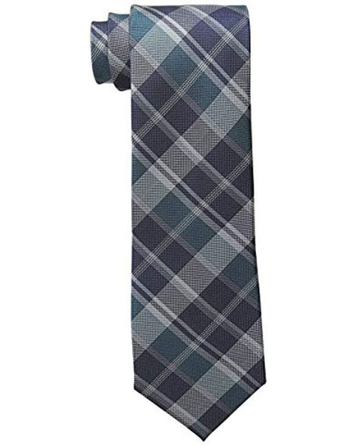 Calvin Klein - Blue Plaid Tie for Men - Lyst