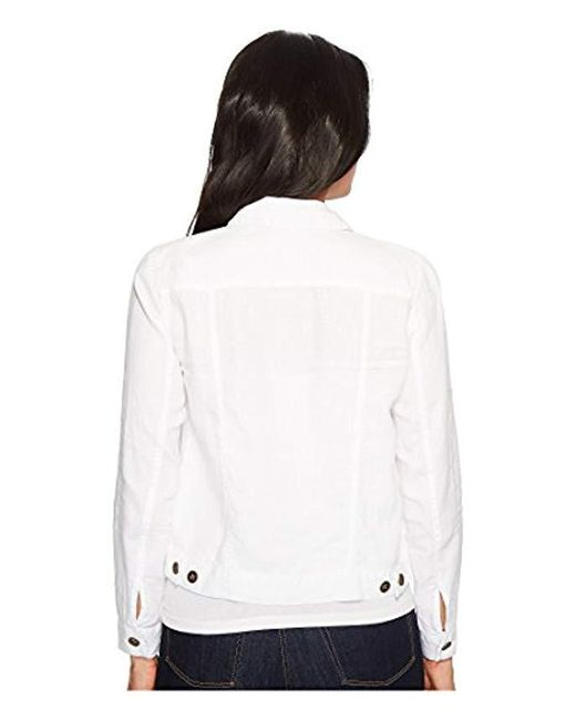 new concept skilful manufacture high quality materials Michael Stars Linen Jean Jacket in White - Save 17% - Lyst