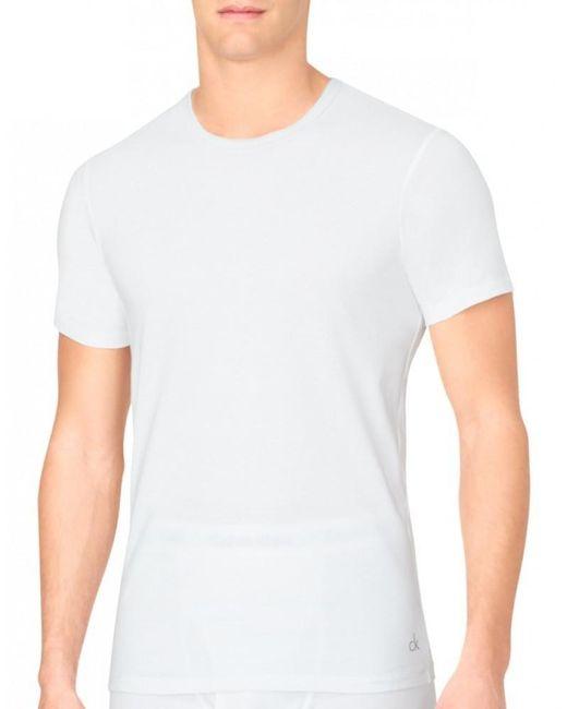 Calvin Klein White Cotton Classics Slim Fit Crew Neck T-shirt for men