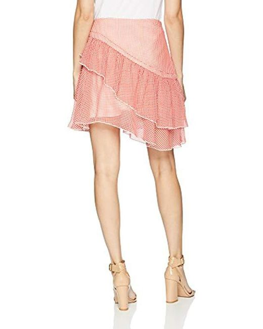 a90dbe13b ... Finders Keepers - Pink Horizons Asymmetric Ruffle Detail Mini Skirt -  Lyst