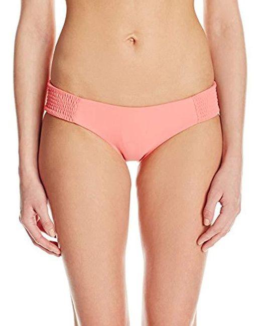 Tori Praver Swimwear - Pink Daisy Bikini Bottom With Full Coverage - Lyst