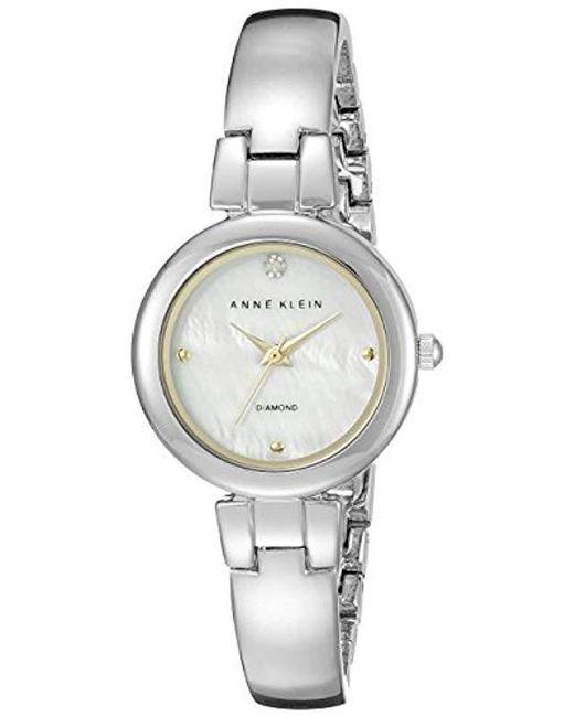 522ad7edc Anne Klein - Multicolor Ak/2079mptt Diamond-accented Two-tone Bangle Watch  ...