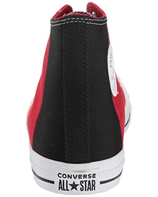 f7b849ae4a5cb Red Unisex Ctas Colorblock Patch Hi Canvas Sneakers