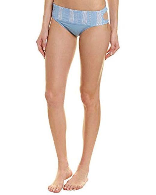Ella Moss Blue Keyhole Swimsuit Bikini Bottom