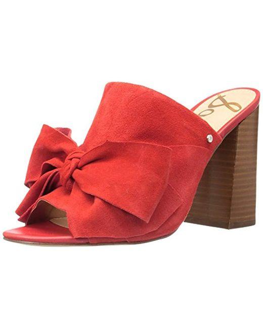 Sam Edelman - Red Yumi Heeled Sandal - Lyst