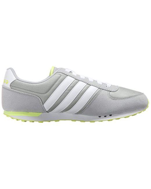5acf66b1c cheap adidas white neo city racer w running sneaker lyst 9928c 417b9