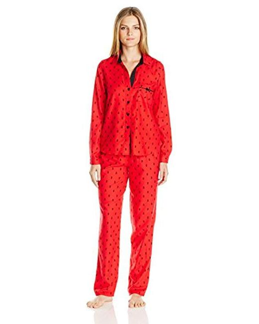 Betsey Johnson Red Gift Packaged Cozy Flannel Pj