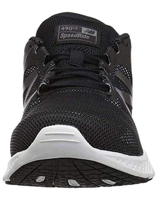ac36f77d7dc89 Women's 490v6 Cushioning Running Shoe, Black/grey, 9.5 D Us