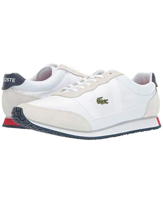 50% ceny zawsze popularny tanio na sprzedaż Lacoste Partner Sneaker in White/Navy/Red (White) for Men - Lyst