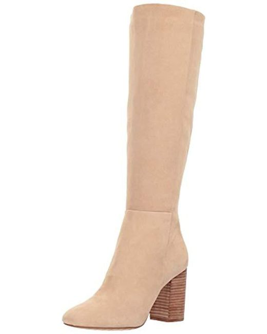Kenneth Cole Natural Clarissa Knee High Tall Boot Stacked Heel Engineer