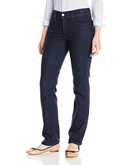 NYDJ Blue Petite Marilyn Straight Jeans