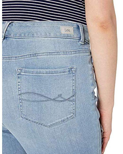 d9342eb98f4 ... Lee Jeans - Blue Plus-size Sculpting Slim Fit Skinny Leg Jean - Lyst ...