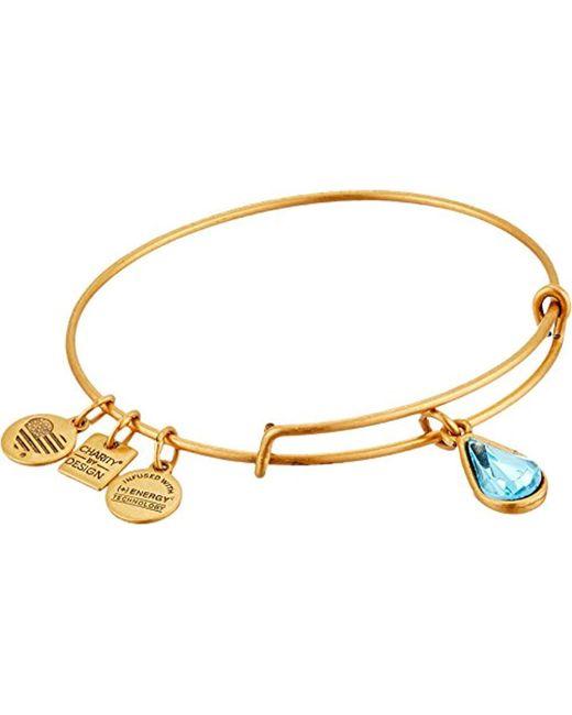 ALEX AND ANI - Metallic Charity By Design Living Water International Bangle Bracelet - Lyst