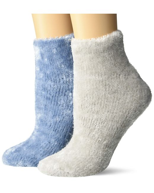 Dr. Scholls Blue American Lifestyle Collection Soothing Spa Low Cut Gripper Socks