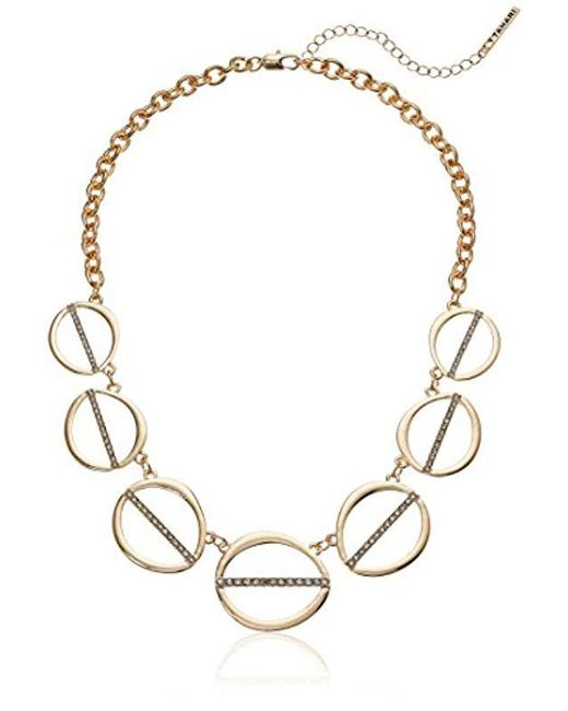 T Tahari - Metallic S Essentials Linked Ovals Necklace, Gold, One Size - Lyst
