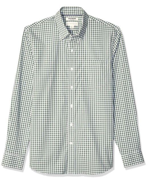 Goodthreads Green Standard-fit Long-sleeve Stretch Poplin for men