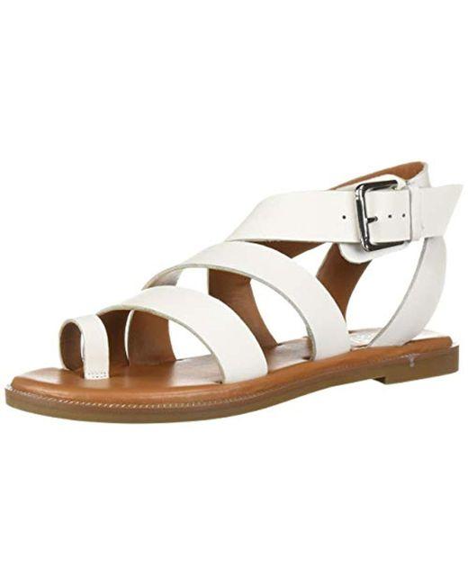 Franco Sarto White Kehlani Flat Sandal