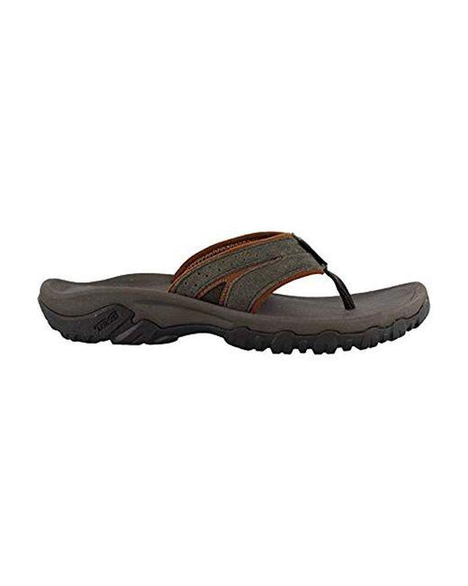 Teva Black Katavi Thong Flip-flop for men