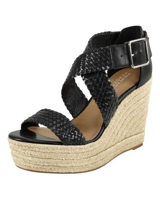 Aerosoles Black Wedge Sandal
