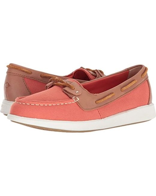 Sperry Top-Sider - Red Oasis Loft Canvas Boat Shoe - Lyst
